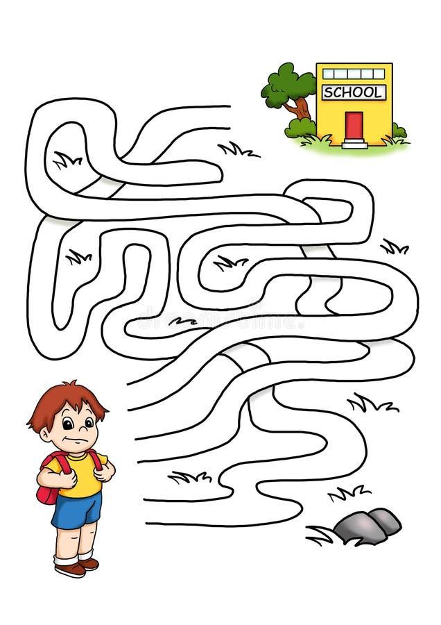 Download Game 30, the school stock illustration. Illustration of road - 14549163