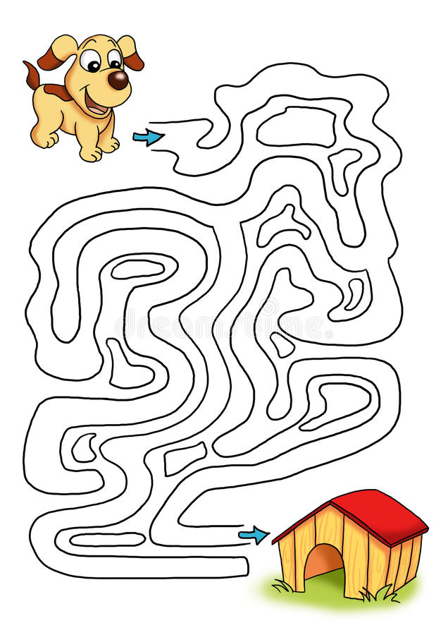 Download Game 33, the dog stock illustration. Image of instructive - 14561391