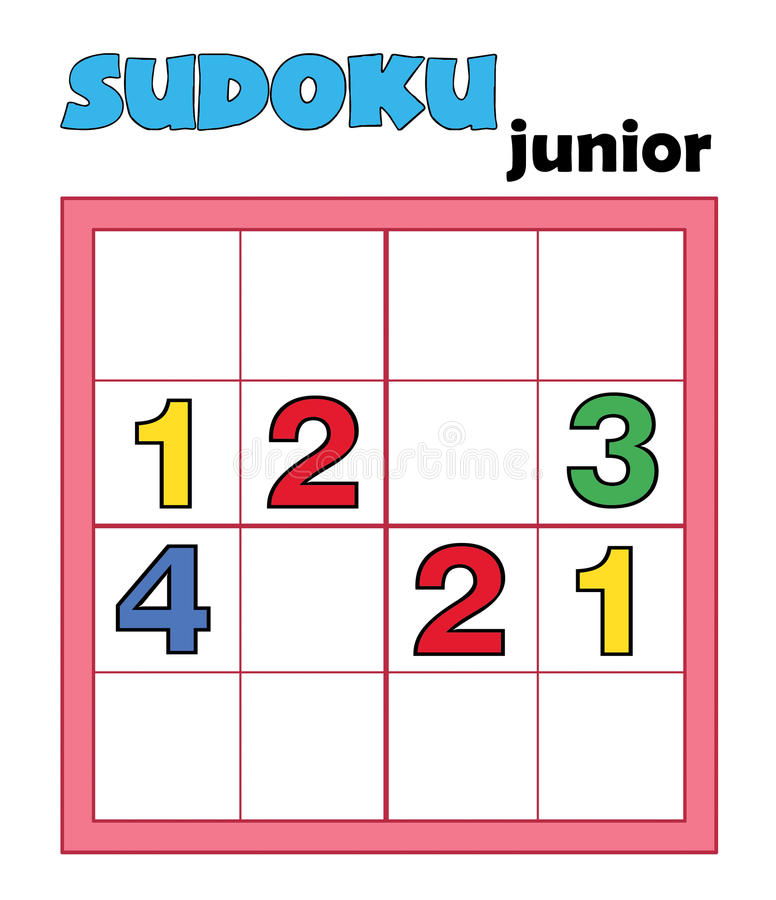 Game 95, sudoku 12 royalty free stock photography