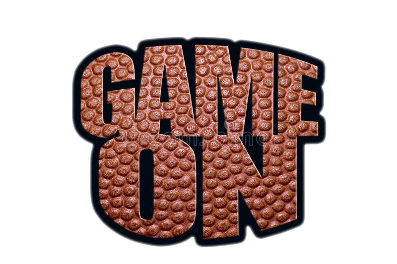 Game On. Graphic on white background royalty free stock photo
