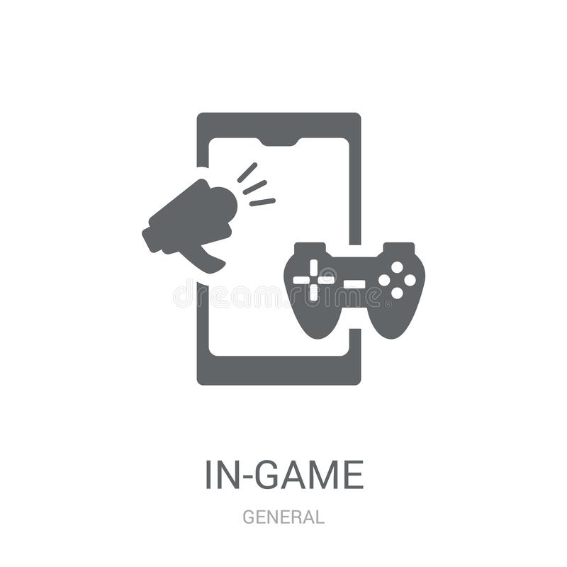 In-game advertising icon. Trendy in-game advertising logo concept on white background from General collection. Suitable for use on web apps, mobile apps and vector illustration