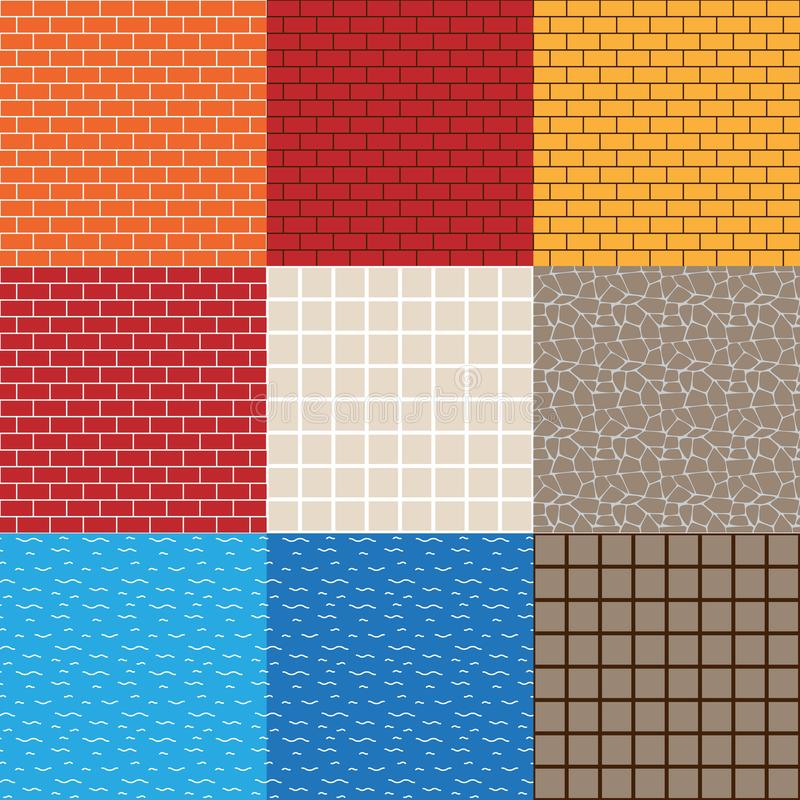 Game Asset Vector Seamless Patterns royalty free illustration