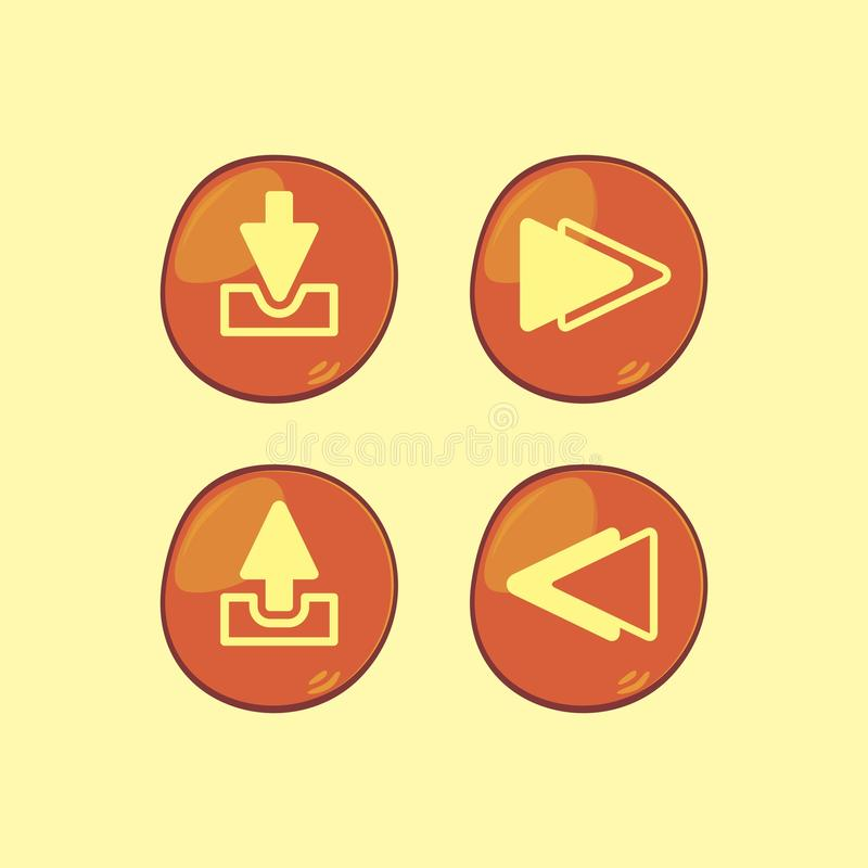 Game assets element. Art graphic design illustration stock illustration