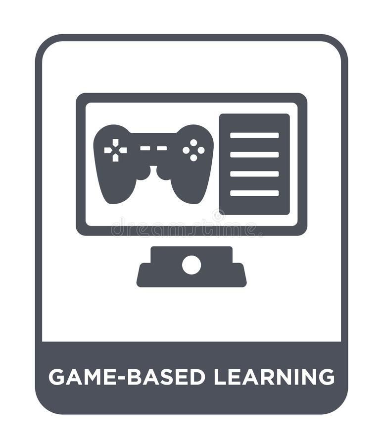 Game-based learning icon in trendy design style. game-based learning icon isolated on white background. game-based learning vector. Icon simple and modern flat stock illustration