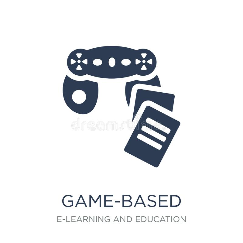 game-based learning icon. Trendy flat vector game-based learning royalty free illustration