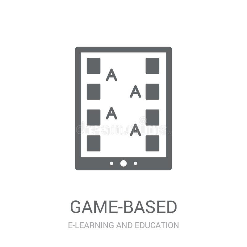 Game-based learning icon. Trendy game-based learning logo concept on white background from E-learning and education collection. Suitable for use on web apps vector illustration