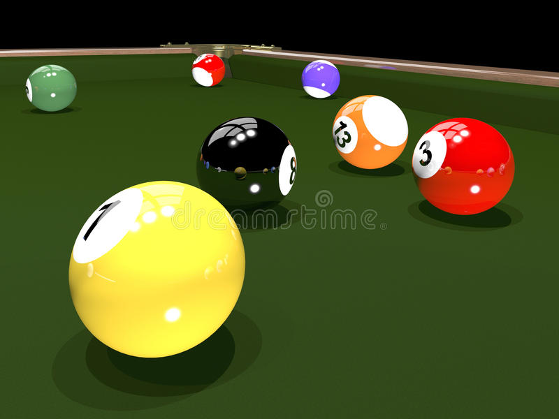 Download The game of billiards stock illustration. Image of snooker - 28492606