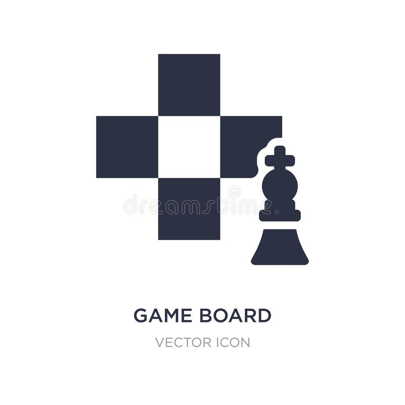 Game board icon on white background. Simple element illustration from Sports concept. Game board sign icon symbol design royalty free illustration