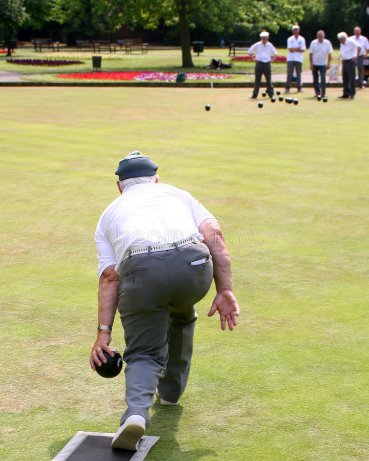 Game of bowls stock photo