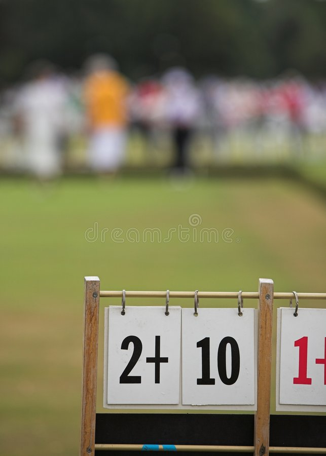 Download Game Of Bowls. Focus On Scoreboard Stock Photos - Image: 5906643