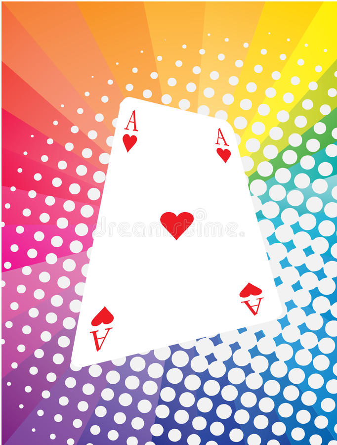 Game card. Vector illustration of game card with colored background royalty free illustration