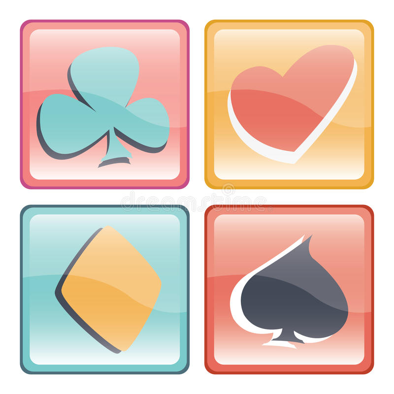 Game card button stock illustration