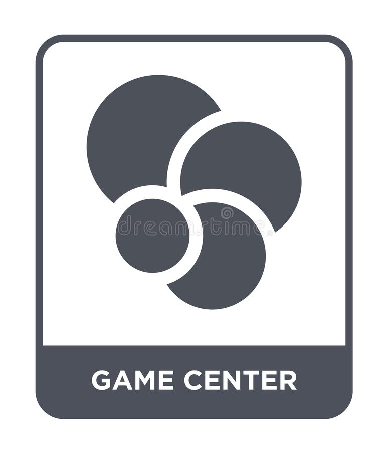 Game center icon in trendy design style. game center icon isolated on white background. game center vector icon simple and modern. Flat symbol for web site stock illustration