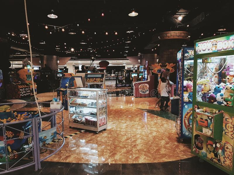 Game center in Lotte Mart Bintaro. Fun world, a game center in the Lotte Mart, Bintaro, Indonesia royalty free stock image