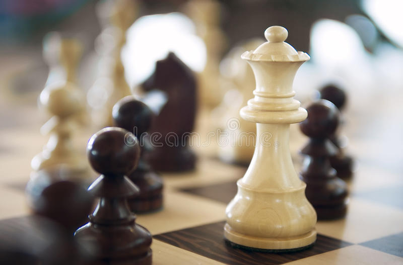 Game of Chess. Close up of a Game of Chess royalty free stock images