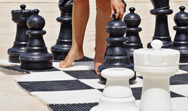 Download Game in chess on a beach stock image. Image of play, leisure - 31829791