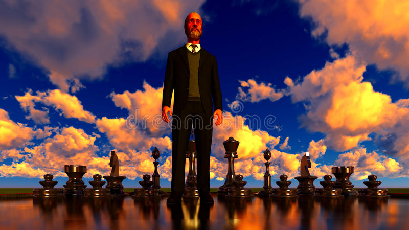 Game of chess. With a bisnessman stock images