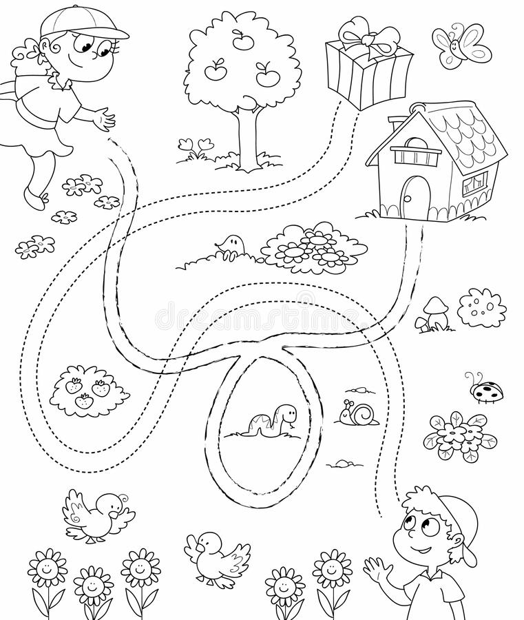 Coloring Game For Children Royalty Free Stock Images - Image: 14849379