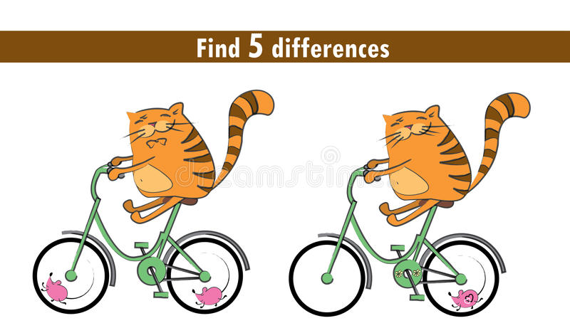 Game for children: find differences vector illustration