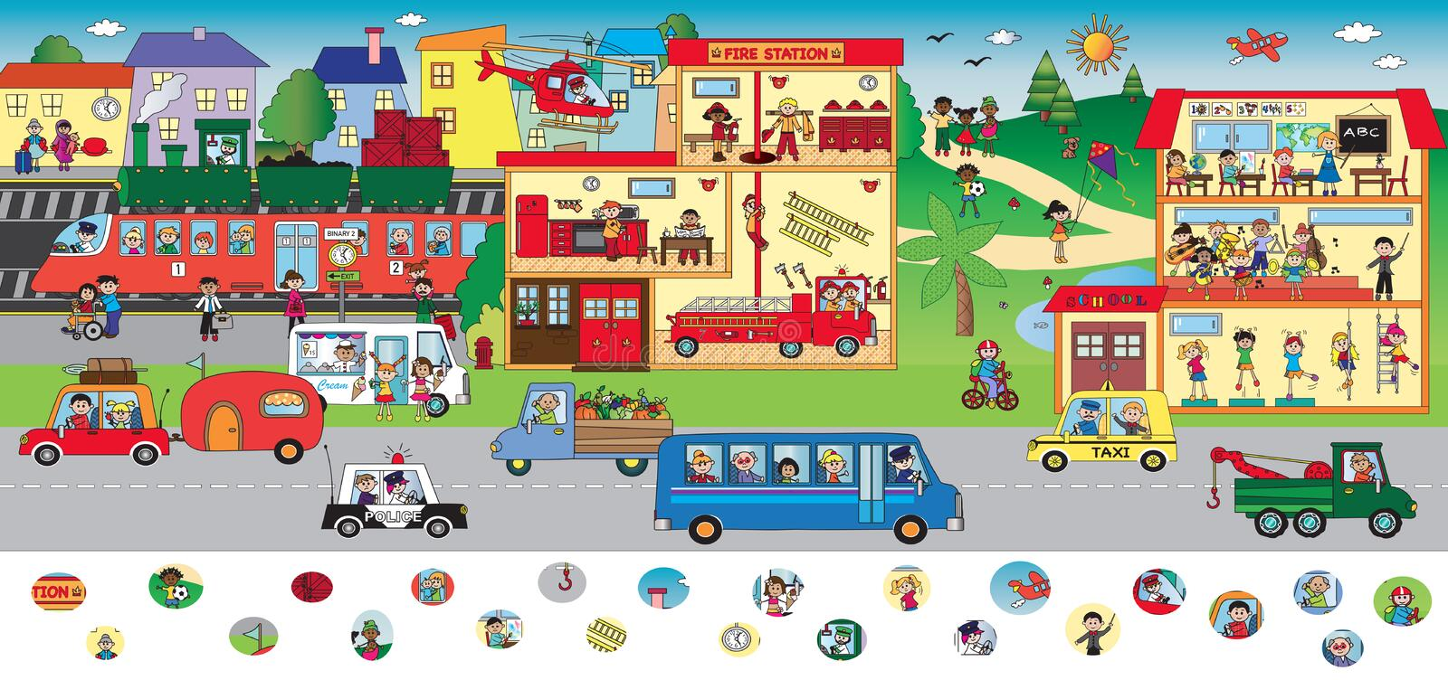Game for children stock illustration