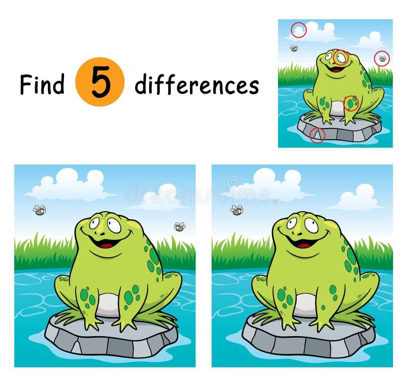 Game for children. Vector Illustration of Education dot to dot game - Frog stock illustration