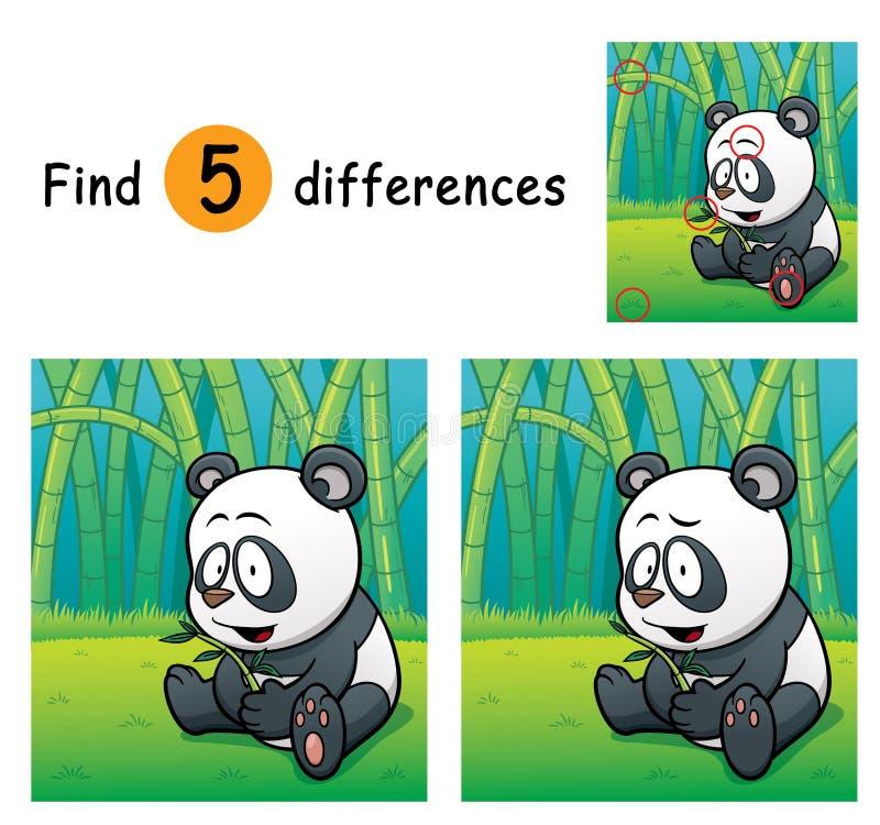Game for children. Vector Illustration of Game for children find differences - Panda stock illustration