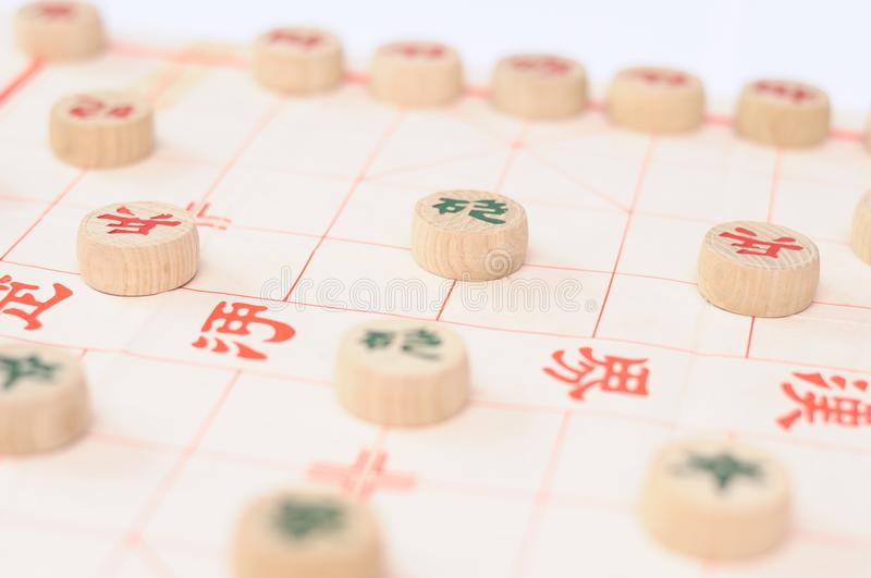 A game of chinese chess stock photography