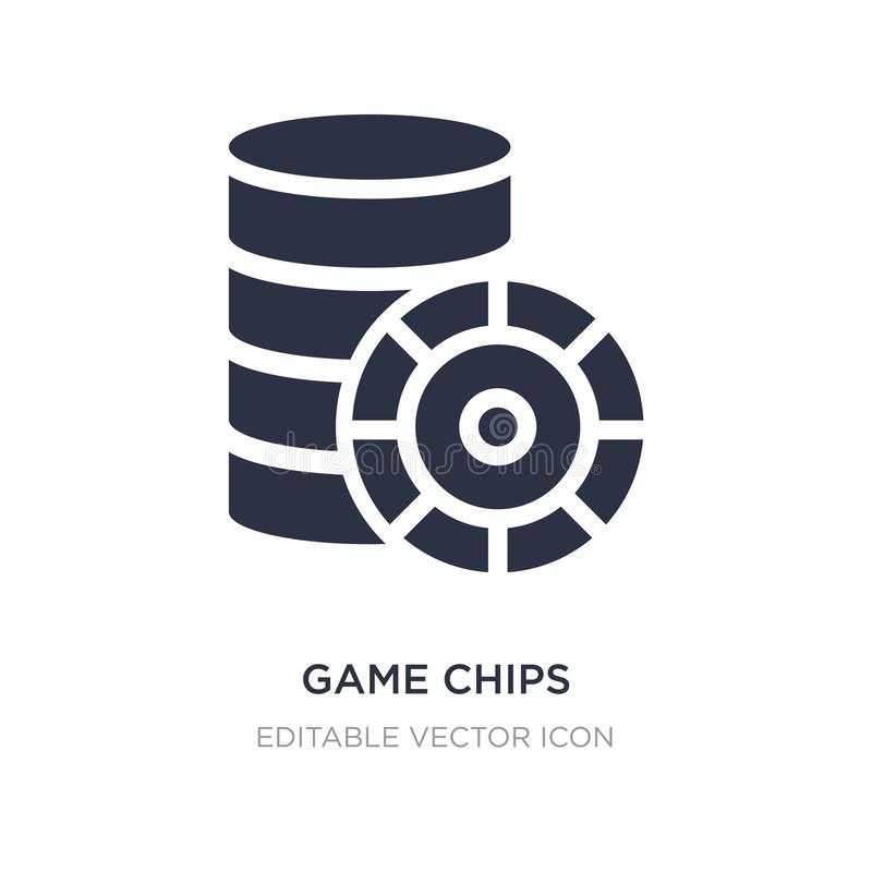 Game chips icon on white background. Simple element illustration from Entertainment concept. Game chips icon symbol design vector illustration