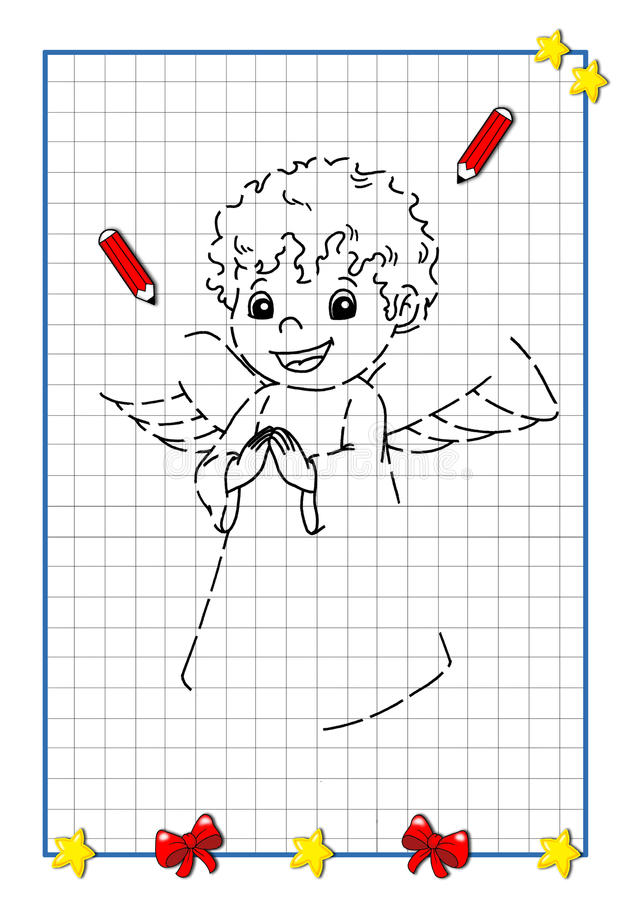 Game of Christmas, angel stock photo