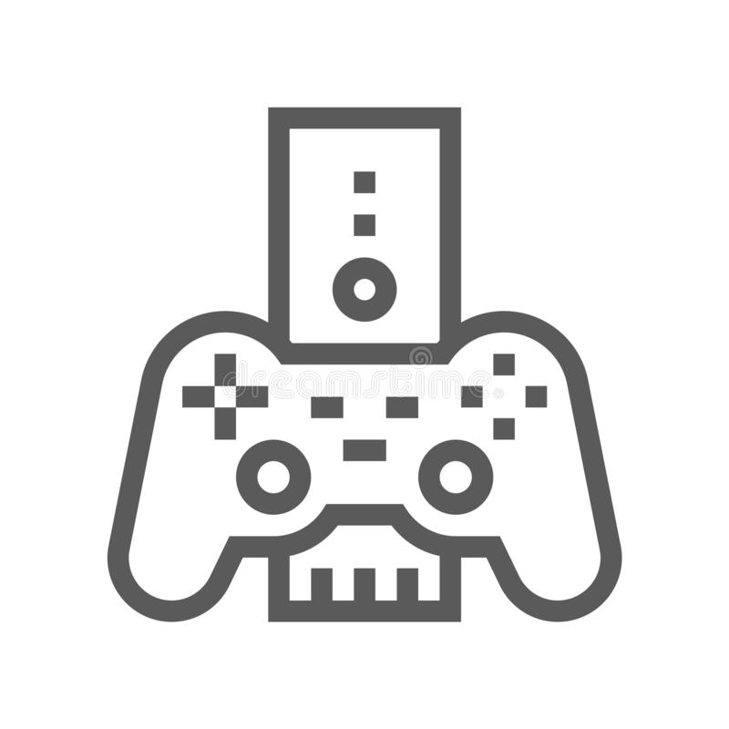 Game Console. Electronic Devices Vector Line Icon. Editable Stroke. 48x48 Pixel Perfect.  vector illustration