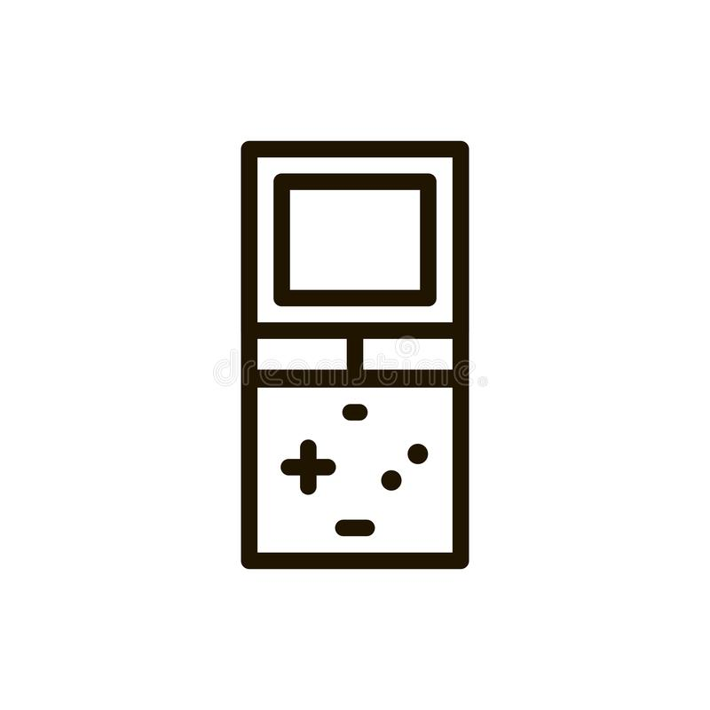 Game console flat icon. Single high quality outline symbol of control for web design or mobile app. Thin line signs of game for design logo, visit card, etc stock illustration