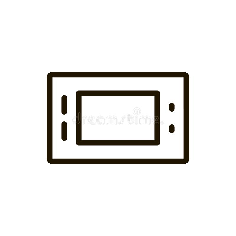 Game console flat icon. Single high quality outline symbol of control for web design or mobile app. Thin line signs of game for design logo, visit card, etc royalty free illustration