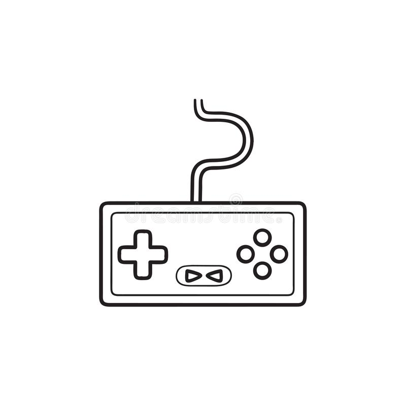 Game console hand drawn outline doodle icon. Home console, video game console , joystick concept. Vector sketch illustration for print, web, mobile and vector illustration
