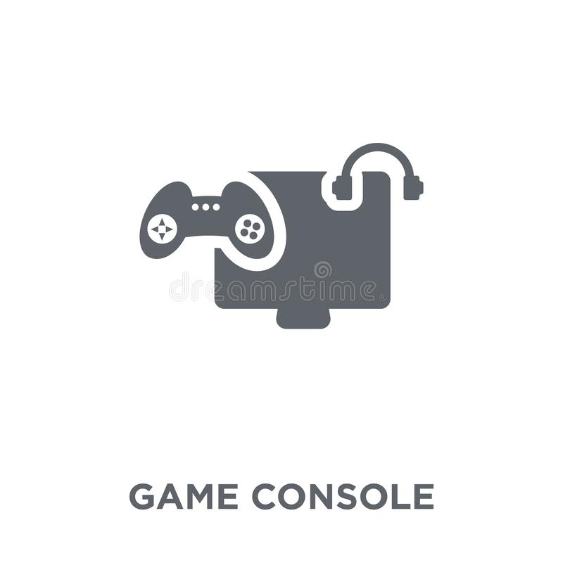 Game console icon from Entertainment collection. stock illustration