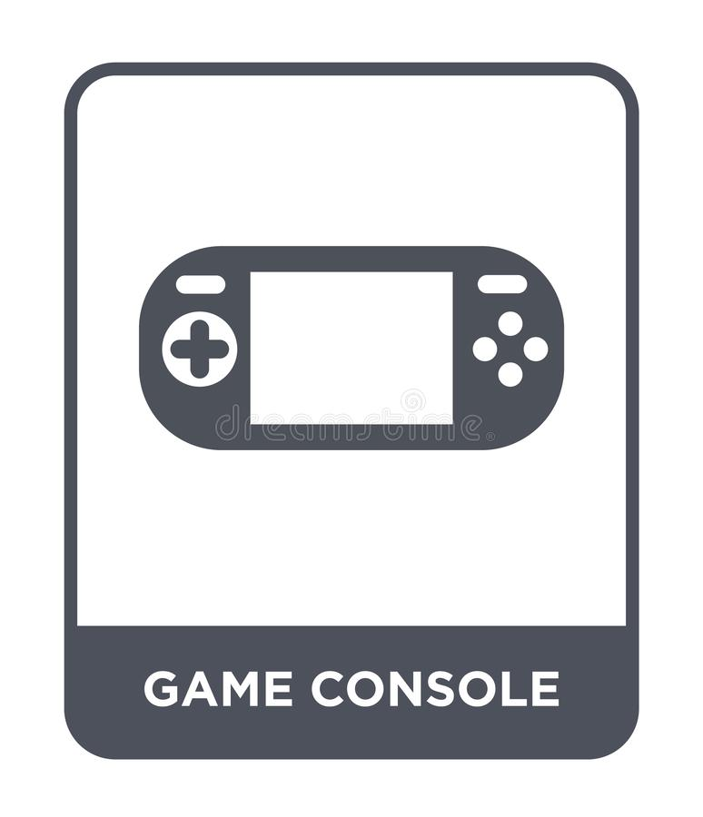 Game console icon in trendy design style. game console icon isolated on white background. game console vector icon simple and. Modern flat symbol for web site royalty free illustration