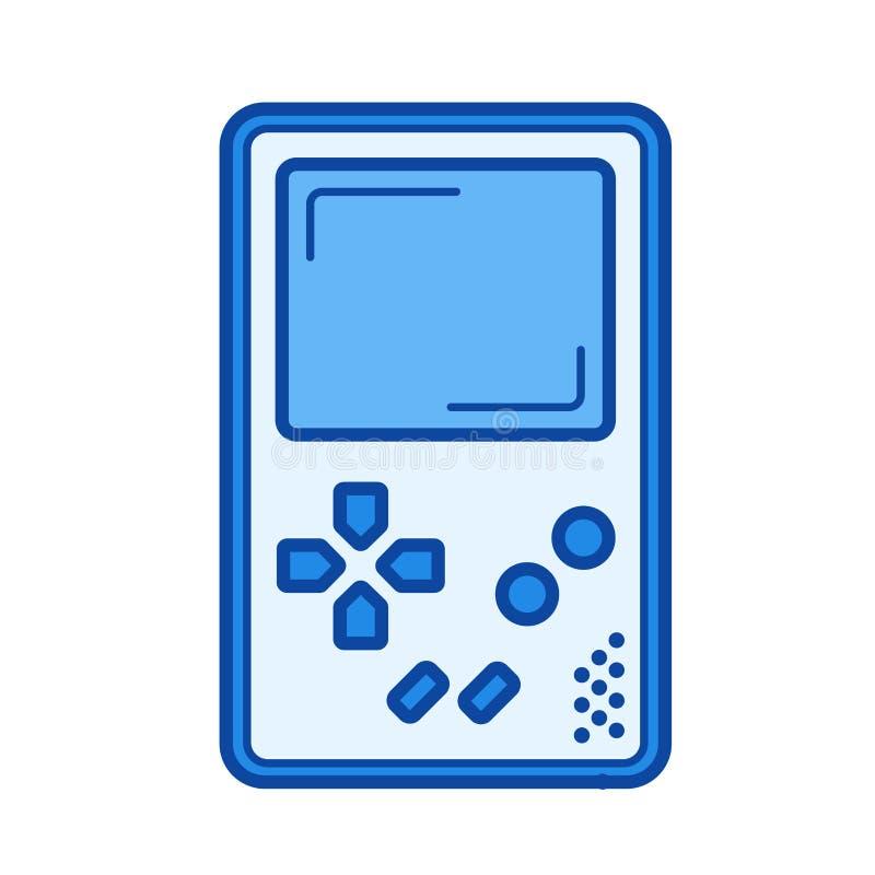 Game console line icon. stock illustration
