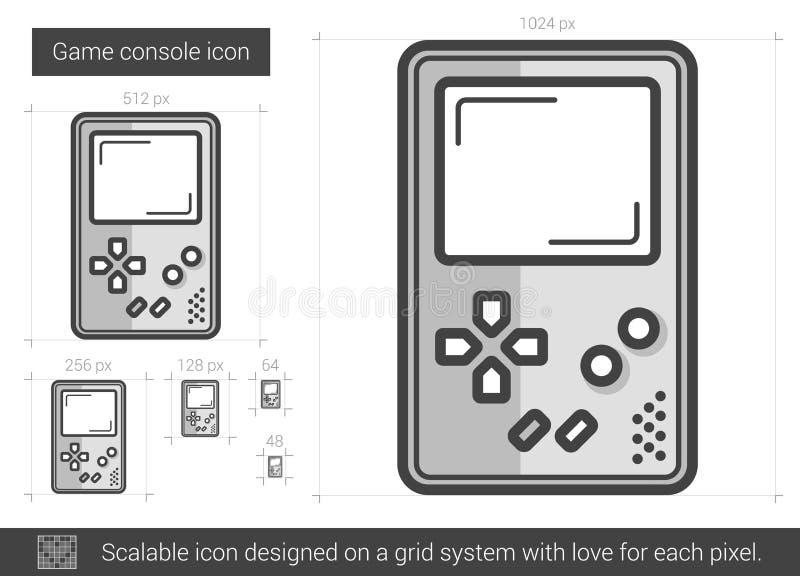 Game console line icon. vector illustration