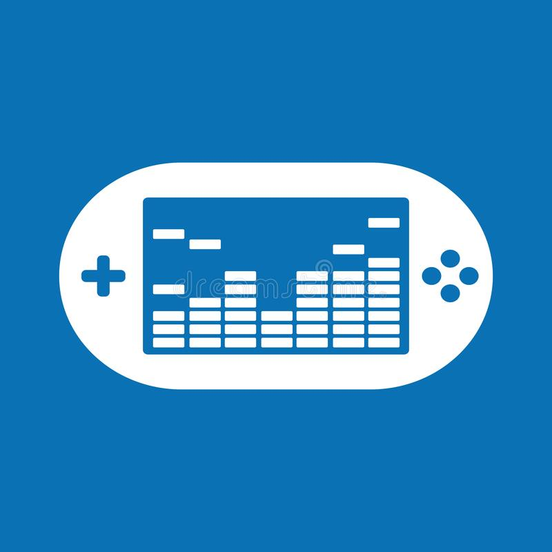 Game Console - Vector Illustration. Isolated On Blue Background royalty free illustration