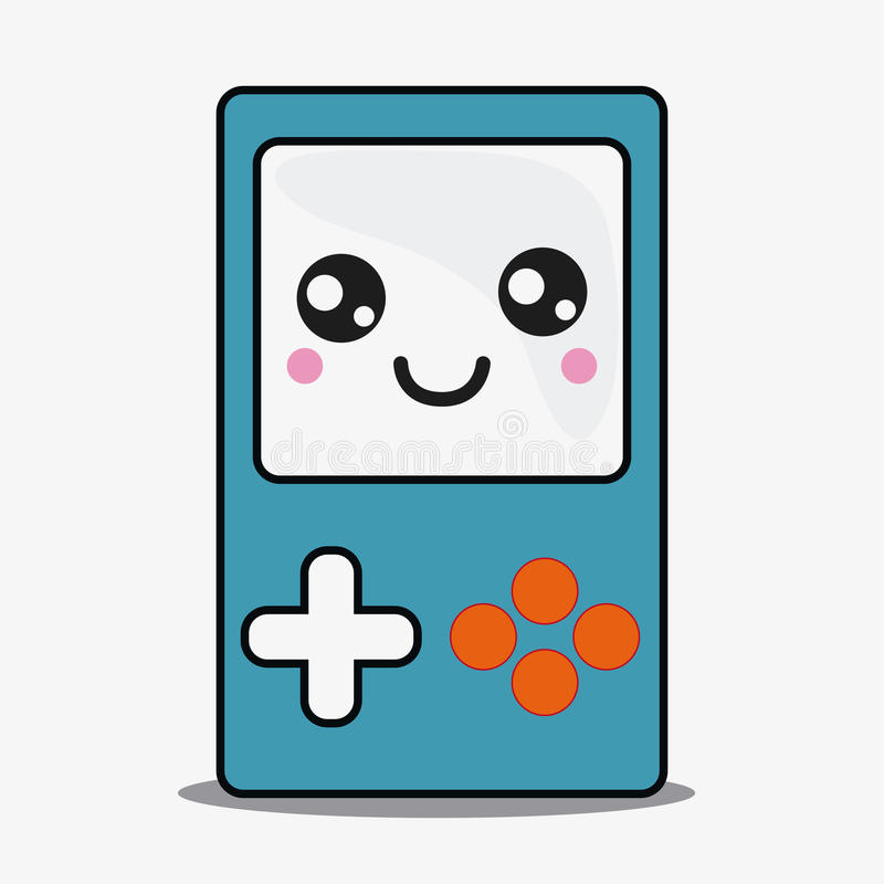 Game Control Icon Kawaii And Technology Vector Graphic Stock