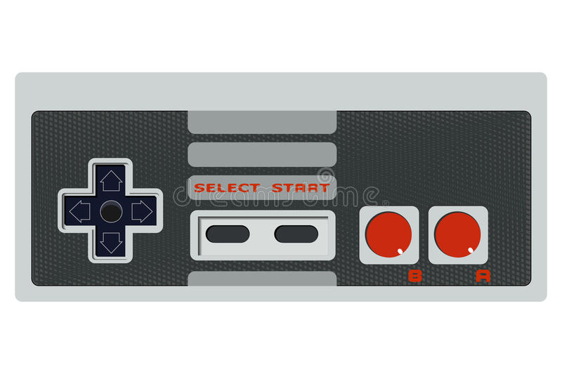 Game controller. Retro game controller without cable, eps10 vector royalty free illustration