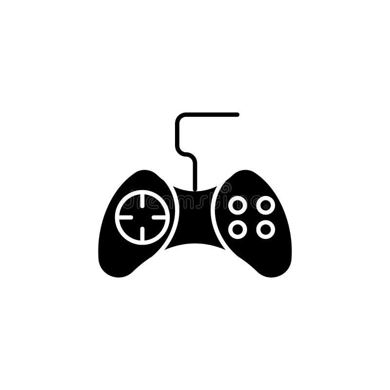 Game controller black icon concept. Game controller flat vector symbol, sign, illustration. Game controller black icon concept. Game controller flat vector vector illustration