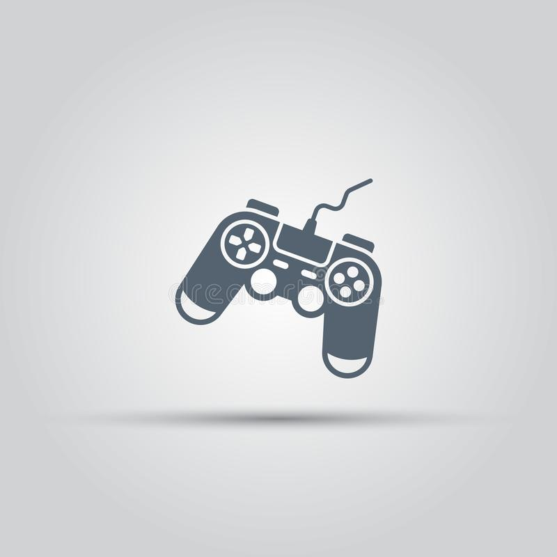 Game controller or gamepad isolated vector icon. Game controller, console gamepad isolated vector icon stock illustration