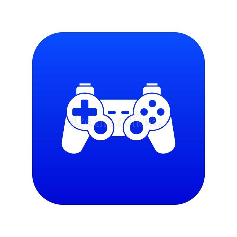 Game controller icon digital blue. For any design isolated on white vector illustration vector illustration