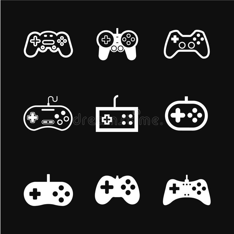 Game controller icon vector. Game controller icon, modern vector thin symbol isolated on background vector illustration