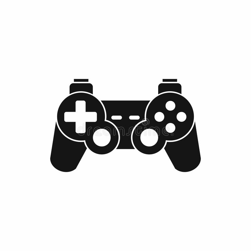 Game controller icon, simple style. Game controller icon in simple style on a white background vector illustration