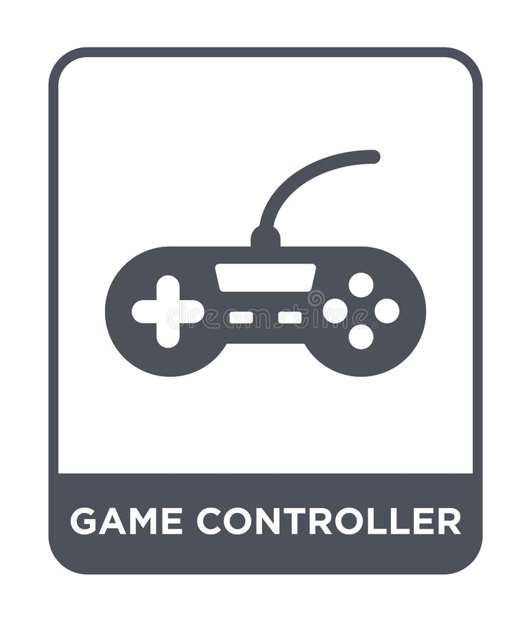 Game controller icon in trendy design style. game controller icon isolated on white background. game controller vector icon simple. And modern flat symbol for stock illustration