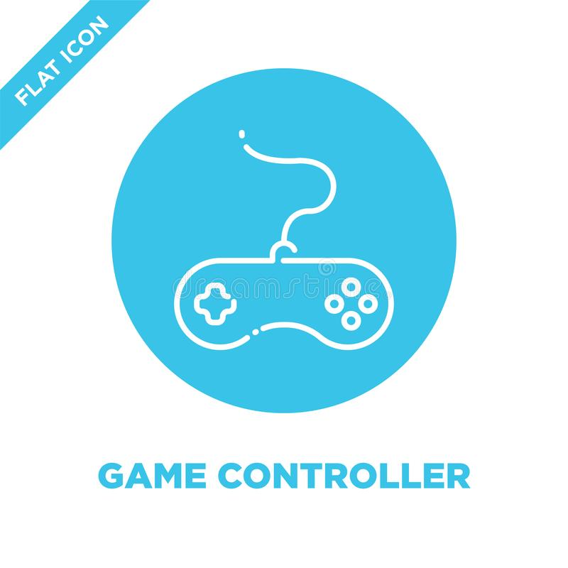 game controller icon vector. Thin line game controller outline icon vector illustration.game controller symbol for use on web and vector illustration