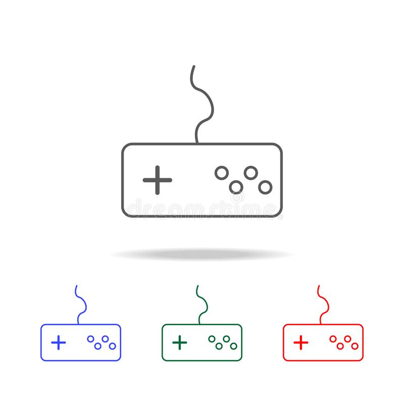 Game controller line icon. Elements in multi colored icons for mobile concept and web apps. Icons for website design and developme. Nt, app development on white royalty free illustration