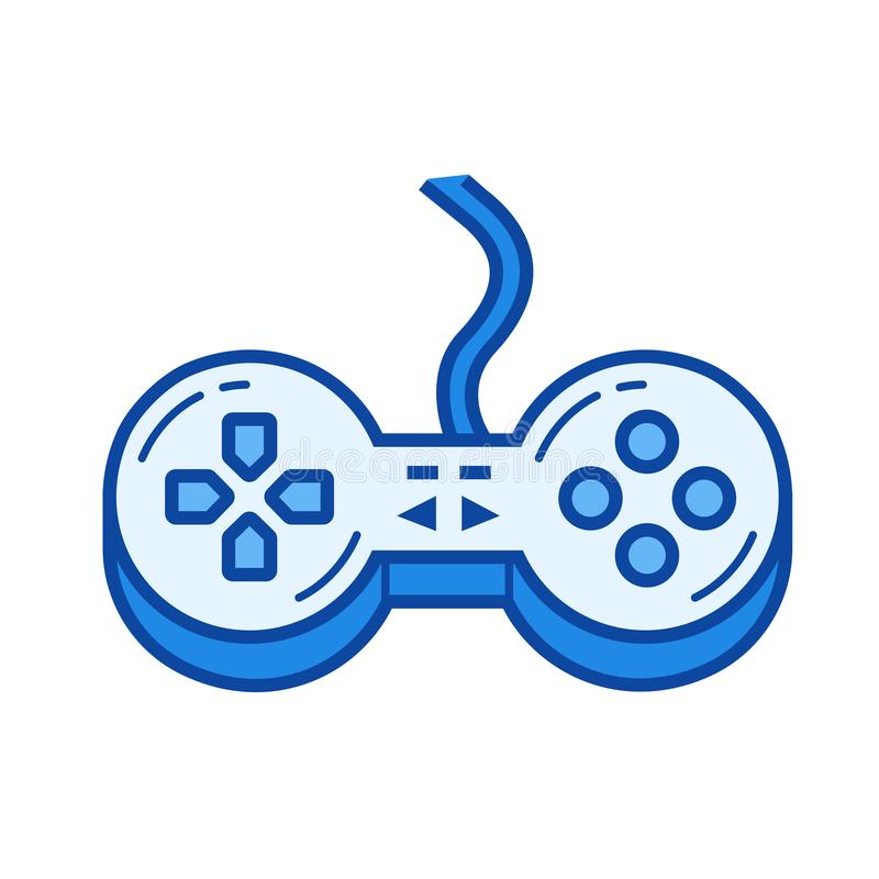 Game controller line icon. vector illustration