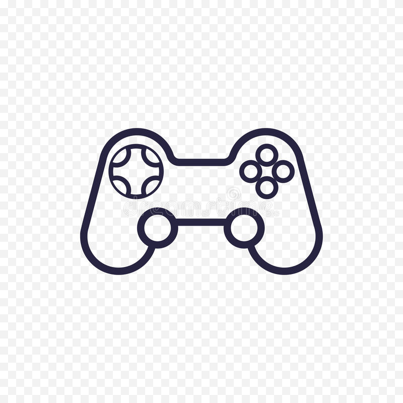 Game controller line icon. stock illustration
